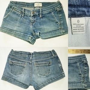 Abercrombie & Fitch Low Rise Jean Shorts Women's 0